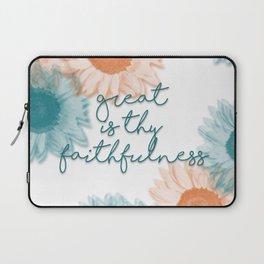Great is Thy Faithfulness Laptop Sleeve