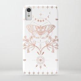 Magical Moth In Rose Gold iPhone Case