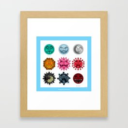 Gemstones in Astrology Framed Art Print