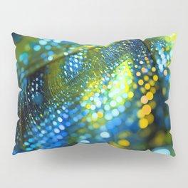 light green yellow bokeh abstract Pillow Sham