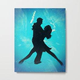 Sexy Tango Dancing Couple Metal Print