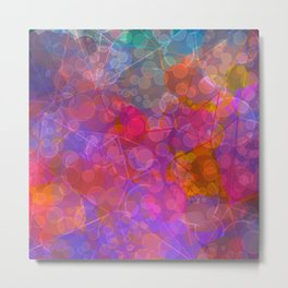 Colorful Untitled Abstract Metal Print