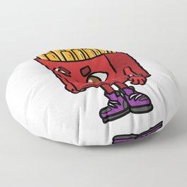 Frieze Hipster Look Cool Funny Floor Pillow
