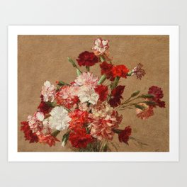 Henri Fantin Latour - Carnations Without Vase Art Print