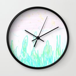 purple afternoon Wall Clock