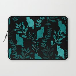 Watercolor Floral and Cat IV Laptop Sleeve