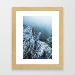 The Peak of Hanging Rock during Hurricane Irma Framed Art Print