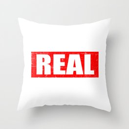 "A Real Tee For The Bossy You Saying ""The Real Boss"" T-shirt Design Administrator Chief Director Throw Pillow"