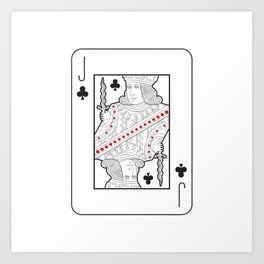 Single playing cards: Jack of Clubs Art Print