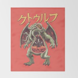 Kaiju Cosmic Monster Throw Blanket