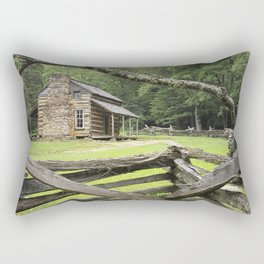 The Oliver Cabin in Cade's Cove in the Great Smokey Mountains Rectangular Pillow