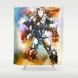 Battle Tested (War Machine) Shower Curtain