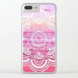Water Mandala Hot Pink Fuchsia Clear iPhone Case