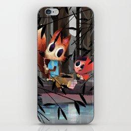 Caperucita Roja y el Lobo hacen un picnic iPhone Skin
