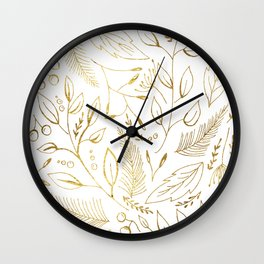 Holiday golden Wall Clock