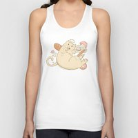 chef Tank Tops featuring Chef Cat by gerbie