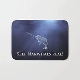 Keep Narwhals Real! Bath Mat