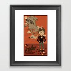 GHOST SPEECH. Framed Art Print