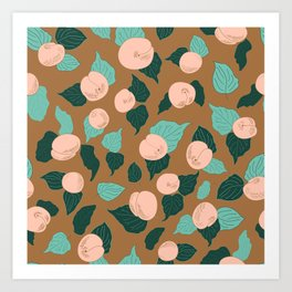Apricot Rose Orchard delight Art Print