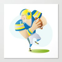 football Canvas Prints featuring Football by Dues Creatius