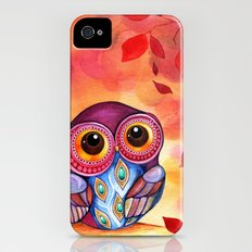 Owl's First Fall Leaf Slim Case iPhone (4, 4s)