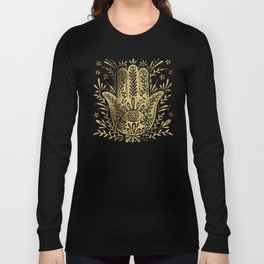 Hamsa Hand – Gold Palette Long Sleeve T-shirt