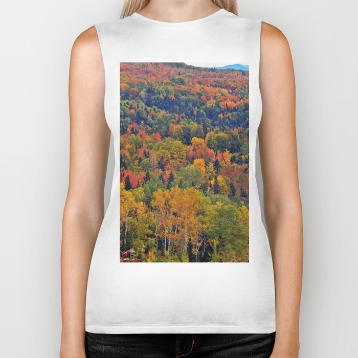 Pure Nature in October Biker Tank