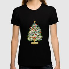 A Christmas Tree Womens Fitted Tee Black MEDIUM