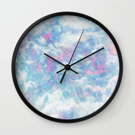 Blue Pink Attractions Wall Clock