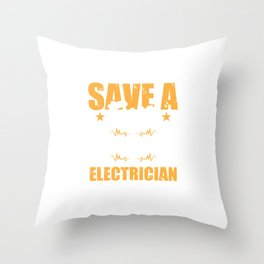Save A Fuse Blow An Electrician For Electric Engineers Throw Pillow