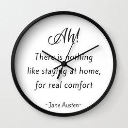 Jane Austen - Home Wall Clock