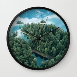 Mountain in a Lake - Landscape Photography Wall Clock