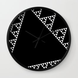 Fractal Triangle Wall Clock