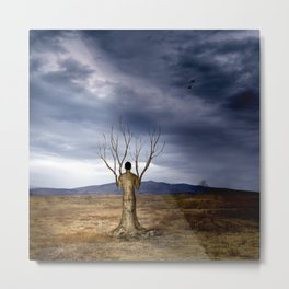 The tree of the field Metal Print