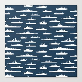 Battleship // Navy Blue Canvas Print