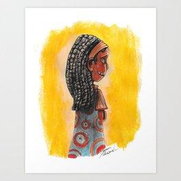 Pretty Girl Art Print