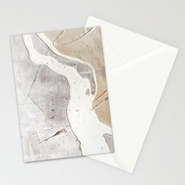 Feels: a neutral, textured, abstract piece in whites by Alyssa Hamilton Art Stationery Cards