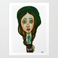 Coca-Cola Girl Art Print