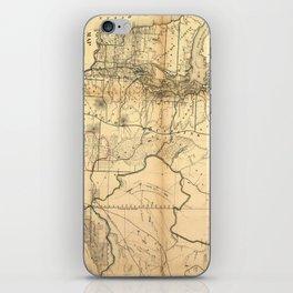 Vintage Map of Washington State (1866) iPhone Skin