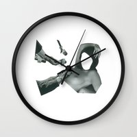 whatever Wall Clocks featuring Whatever by fabiotir
