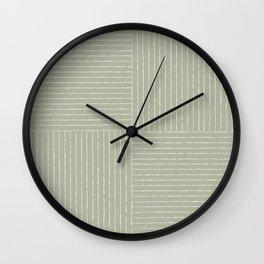 Lines III (Linen Sage) Wall Clock