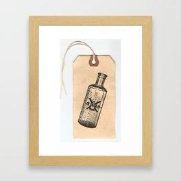Old But Gold Bottle Stamp Hang Tag  Framed Art Print