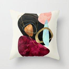 Abstract Pebbles II Throw Pillow