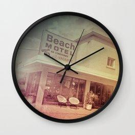 Beach Motel Wall Clock