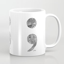 Patterned Semicolon #2 Coffee Mug