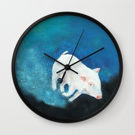 Swimming Piggy Wall Clock