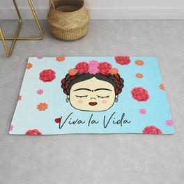Viva la Frida, artist, flowered Rug