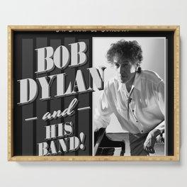 bob dylan his band tour 2019 basket Serving Tray