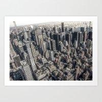 manhattan Art Prints featuring Manhattan by Nicklas Gustafsson