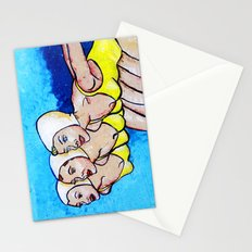 three swimmers Stationery Cards
